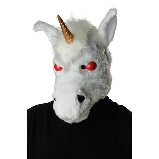 California Costumes Evil Unicorn Ani-Motion Adult Mask - white/red