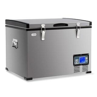 Costway 47-Quart Portable Electric Car Cooler Refrigerator / Freezer Compressor Camping - ounces