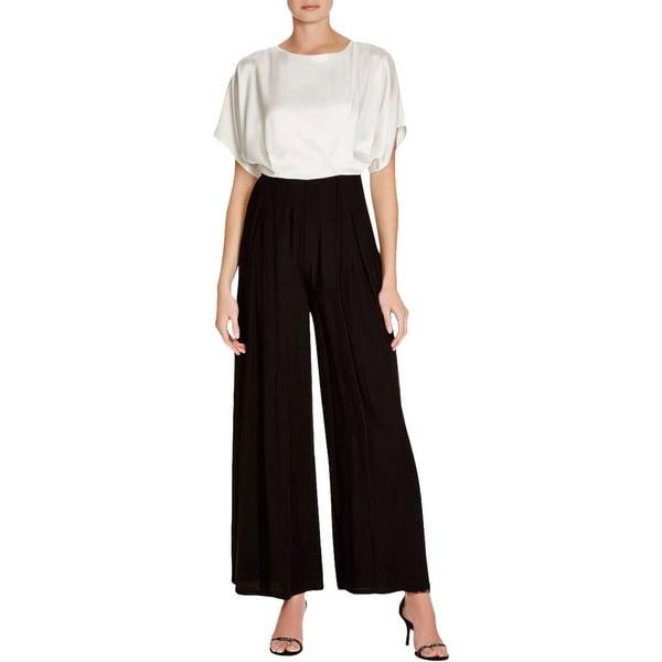 ABS by Allen Schwartz Womens Jumpsuit Short Sleeve Blouson