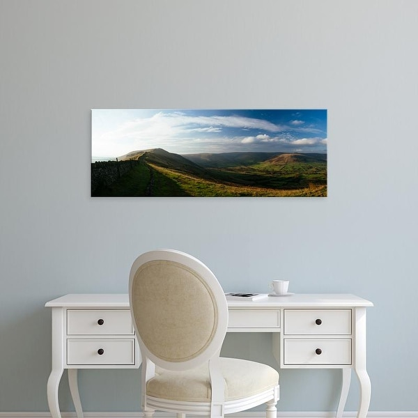 Easy Art Prints Panoramic Images's 'View of landscape from Mam Tor, Peak District, Derbyshire, England' Canvas Art