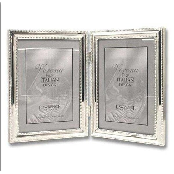 Shop 5x7 Hinged Double Vertical Metal Picture Frame Silver Plate
