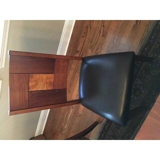 Solid Hardwood Squareback Brown Dining Chair (Set of 2)