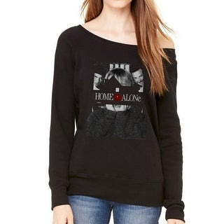 Home Alone Poster Women's Black Sweatshirt