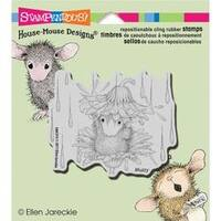 """Rain Flower - Stampendous House Mouse Cling Stamp 3.5""""X4"""""""