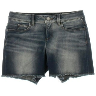 Two by Vince Camuto Womens Marrakesh Mix Denim Whisker Wash Cutoff Shorts - 2