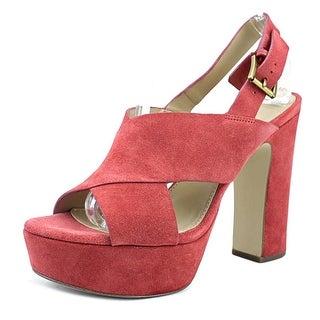 Michael Michael Kors Diva Platform Women Open Toe Synthetic Pink Platform Heel