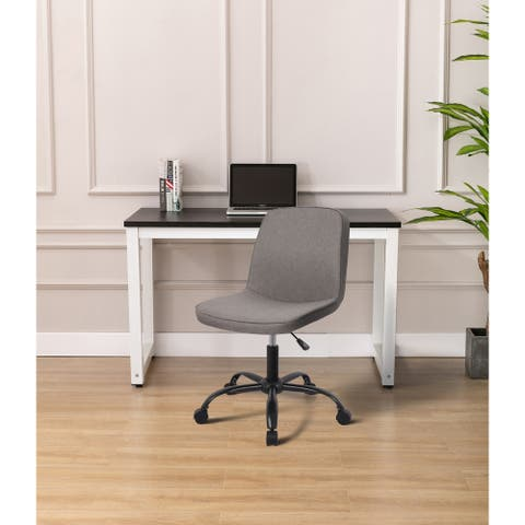 WOVENBYRD Modern Armless Adjustable Rolling Home Office Chair