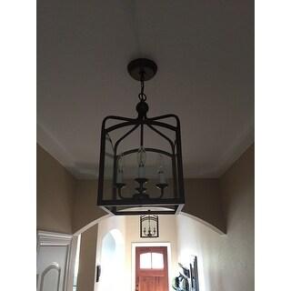 Ashley Bronze 4-light Foyer Hanging Lantern