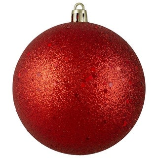 "Link to Red Glittered Shatterproof Christmas Ball Ornament 4"" (100mm) Similar Items in Christmas Decorations"