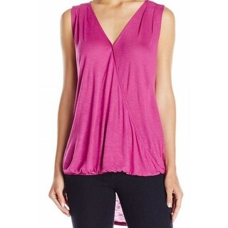 Two By Vince Camuto NEW Pink Womens Medium M Faux Wrap Hi-Lo Tank Top