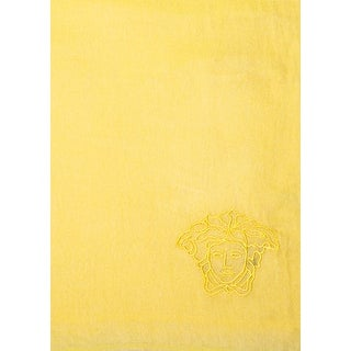 Versace Women's Embroidered Medusa Logo Modal Scarf Yellow