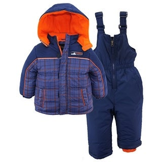 iXtreme Little Boys' Plaid Expedition Print Snowsuit