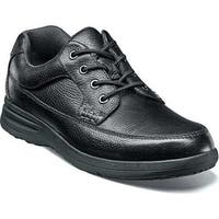 Nunn Bush Men's Cam Moc Toe Oxford Black Tumbled Leather