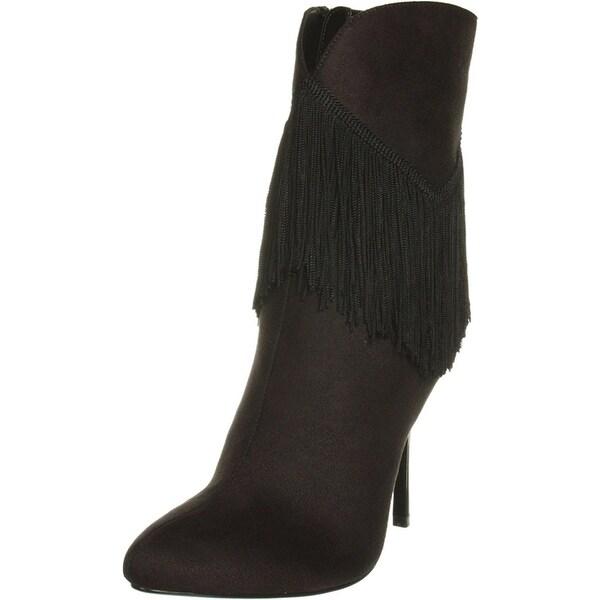 Nina Women's Alette Fringe Stiletto Boots - 9