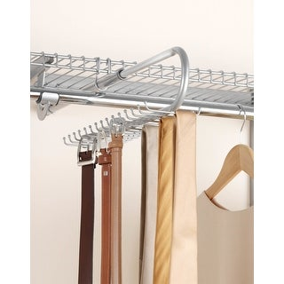 Rubbermaid FG3H9802  Configurations Pull Out Belt and Tie Rack with 30 Hooks - Titanium