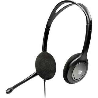 V7 HA201-2NP Over-The-Head Noise Canceling Stereo Headset