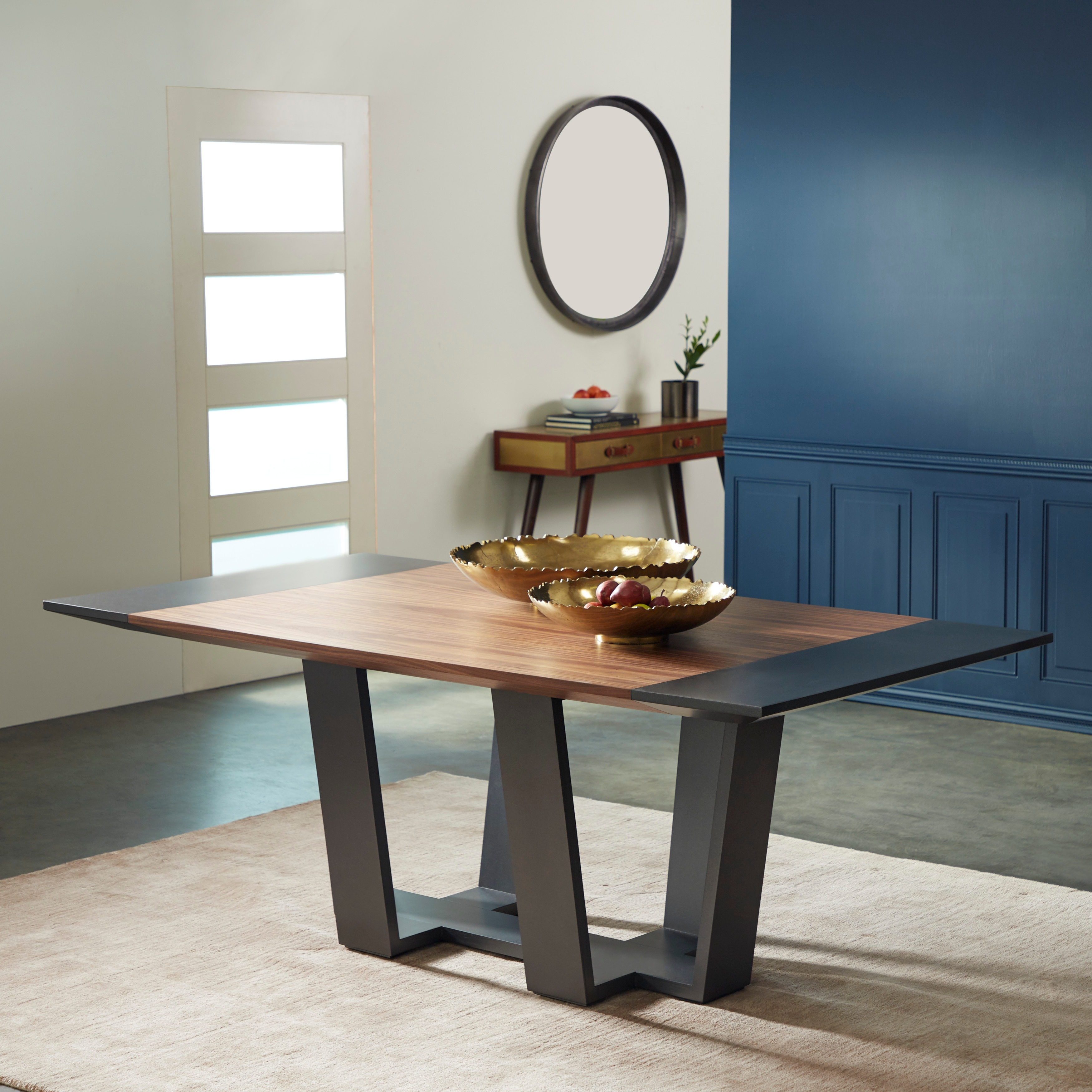 Contemporary 6 Seat Natural Wood Dining Table 80 X 44 82 X 9 X 20 On Sale Overstock 32114589