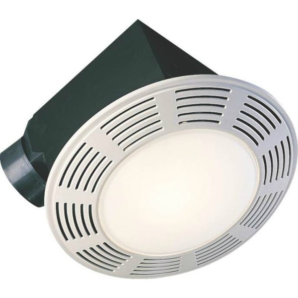 Shop air king ak863l deluxe round exhaust fan with night - Round bathroom exhaust fan with light ...