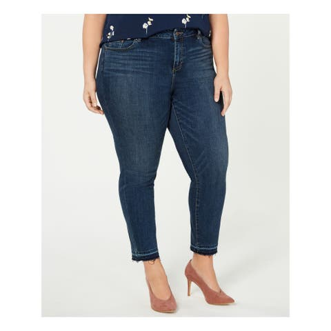 VINCE CAMUTO Womens Blue Skinny Jeans Size 24W