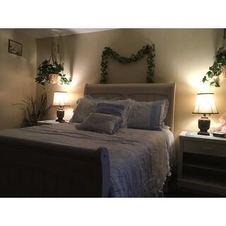 Madison Park Hilarie Blue Cotton Percale Comforter 9 Piece Set