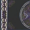 Handmade 100% Cotton Celtic Wheel of Life Tapestry Bedspread Twin 70x104 and Full 88x104 in Black Tan & Black Purple colors - Thumbnail 4