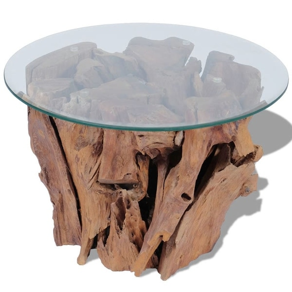 Vidaxl Coffee Table Teak Resin: Shop VidaXL Coffee Table Solid Teak 23.6""