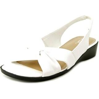 Life Stride Mimosa Women W Open-Toe Synthetic White Slingback Sandal