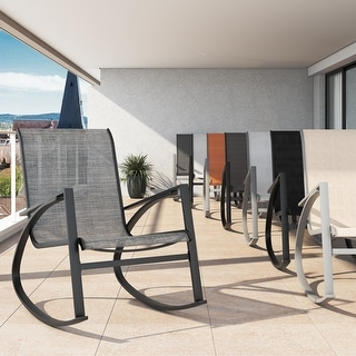 Link to Corvus Antonio Outdoor Sling Fabric Rocking Chair Similar Items in Outdoor Sofas, Chairs & Sectionals