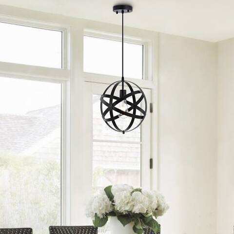 GetLedel 11.8-inch Farmhouse Globe Pendant Light Orb Chandelier