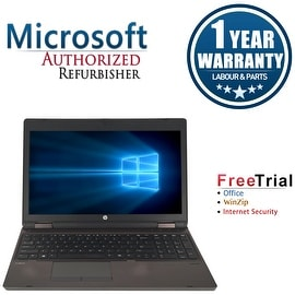 "Refurbished HP ProBook 6560B 15.6"" Laptop Intel Core i5-2410M 2.3G 4G DDR3 250G DVDRW Win 10 Pro 1 Year Warranty - Black"