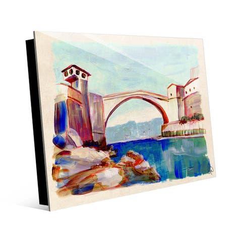 Kathy Ireland Mostar Bridge in Bosnia on Acrylic Wall Art Print