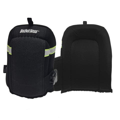 Bucket Boss GX3 GelFoam Flooring Knee Pad with Neoprene Strap & Buckle Closure