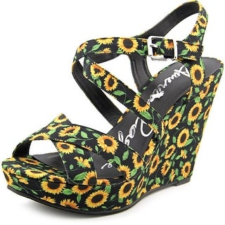 American Rag Rachey Women Open Toe Canvas Multi Color Wedge Heel
