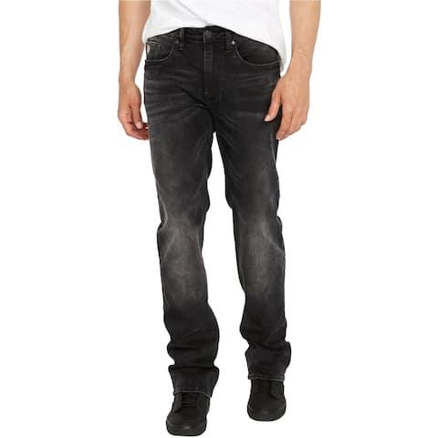 Buffalo David Bitton Mens Driven-X Relaxed Straight Leg Stretch Jeans, Black, 42W x 30L
