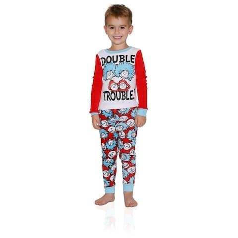 Dr. Seuss 2-Pc Boys' Cotton PJ Set
