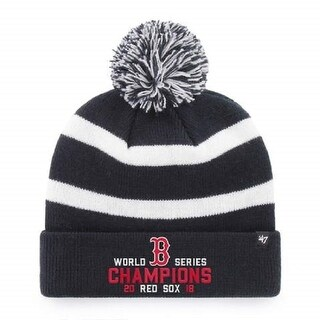Boston Red Sox 2018 World Series Champions 47 Brand Breakaway Knit Hat