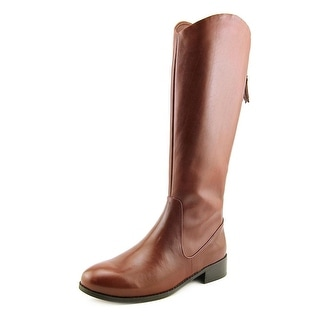 Trotters Logan Too Women N/S Round Toe Leather Mid Calf Boot