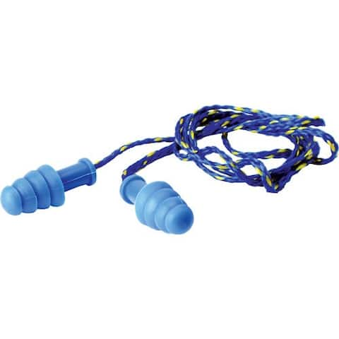 Walkers gwptprcordbl walkers ear plugs braided cord rubber 27db blue 1-pair