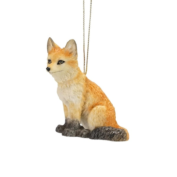 "3.25"" Wild Baby Orange and Brown Fox Decorative Christmas Ornament"
