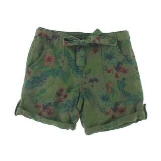 Sanctuary Womens Linen Blend Tropical Print Casual Shorts - 26