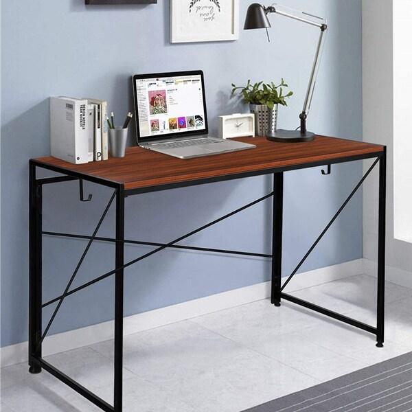 NOVA FURNITURE Folding Home Office Industrial Computer Desk. Opens flyout.
