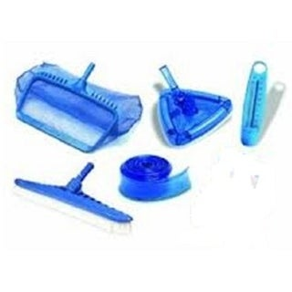 6-Piece HydroTools Swimming Pool Cleaning, Maintenance and Test Kit - Blue