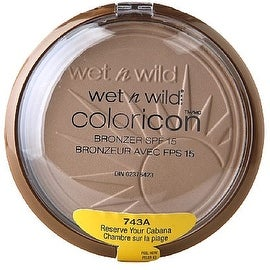 Wet n Wild Color Icon Bronzer with SPF 15, Reserve Your Cabana [743A] 0.46 oz