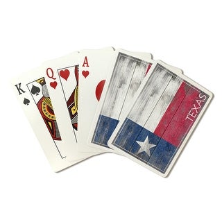Rustic Texas State Flag - LP Artwork (Poker Playing Cards Deck)