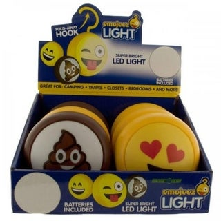 Bulk Buys 3 x 3 in. Emoticon LED Light with Hook Countertop Display