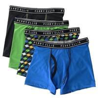 Perry Ellis Boy's Micro Fiber Tech Boxer Briefs (4 Pair Pack)