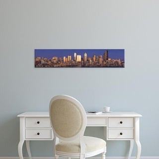 Easy Art Prints Panoramic Images's 'View of cityscape at dusk, Seattle, King County, Washington, USA' Canvas Art