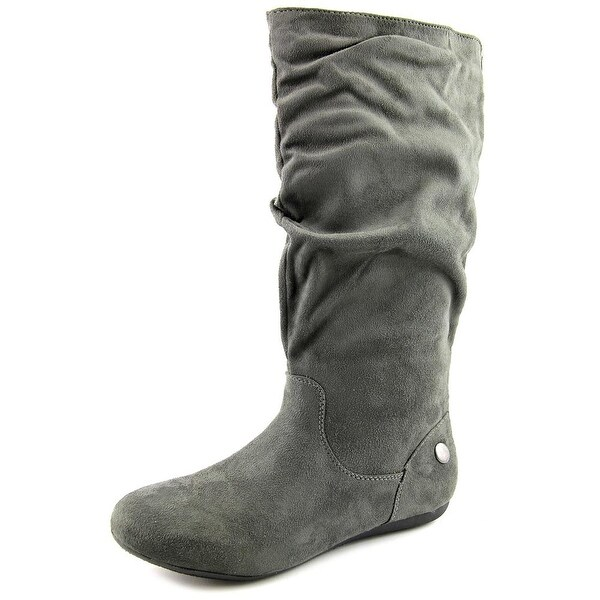 Vybe Jennifer Women Round Toe Synthetic Gray Knee High Boot