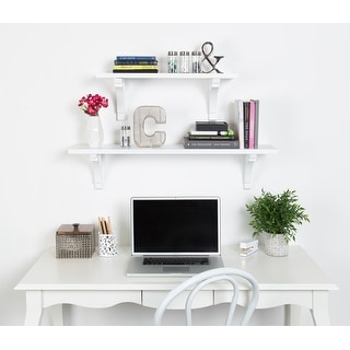 Link to Kate and Laurel Corblynd Traditional Wood Wall Shelf Similar Items in Accent Pieces