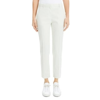 Theory Womens Tailor Trouser Pants Linen Mid Rise - Mint Cream - 0
